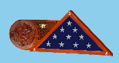 3-D CARVED UNITED STATES NAVY FLAG BOX