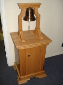 BELL STAND - SOLID OAK - ORIENTAL STYLE