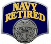 US NAVY RETIRED HITCH COVER