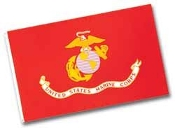 MARINE CORPS FLAG - 4x6' OUTDOOR NYLON W/ HEADING AND GROMMETS