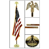 FLAG SET, AMERICAN - 9' INDOOR PRESENTATION SET