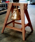 BELL STAND - A-FRAME - SOLID WOOD FOR MEDIUM AND LARGE BELLS