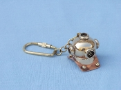 Solid Brass/Copper Diving Helmet Key Chain 5""